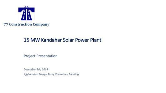 File:Kandahar SPP Project Presentation pdf - energypedia info