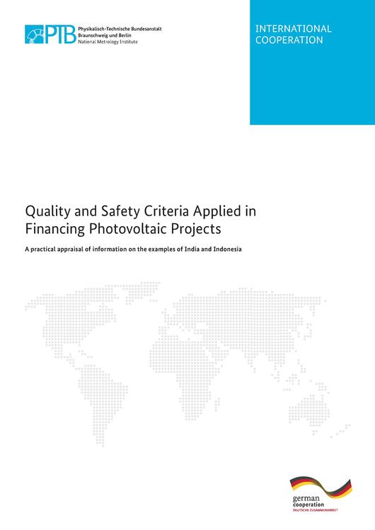 File:Quality and Safety Criteria Applied in Financing Photovoltaic Projects - A practical appraisal of information on the examples of India and Indonesia.pdf