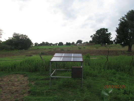 File:1000W solar pumping system installed at Nabio.JPG