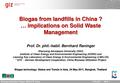 Biogas from Landfills in China.pdf