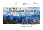 Roof-top PV - The new market in Chile