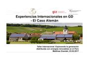 Distributed Generation in Germany (spanish)
