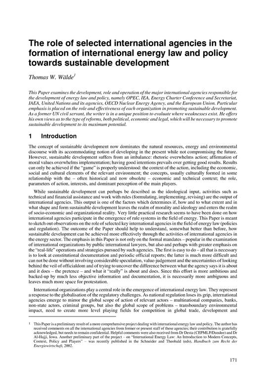 File:The Role of international Agencies in Formation of International Energy Law and Policy Towards Sustainable Development.pdf
