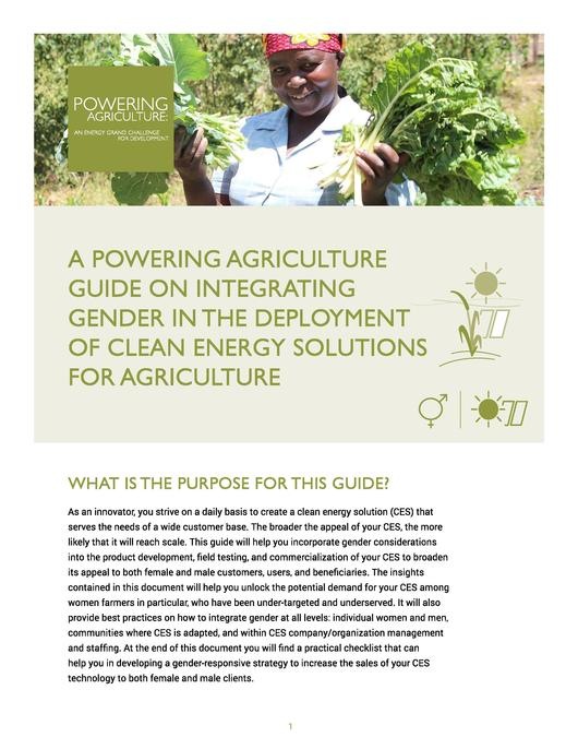 File:A Powering Agriculture Guide on Integrating Gender in the Deployment of Clean Energy Solutions for Agriculture.pdf