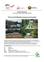 EnDev Indonesia Site Criteria Checklists for PLTS and PLTMH.pdf