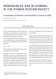 Renewables are blooming; is the power system ready? A Prognosis on Residual Load Flexibility in Taiwan by 2025