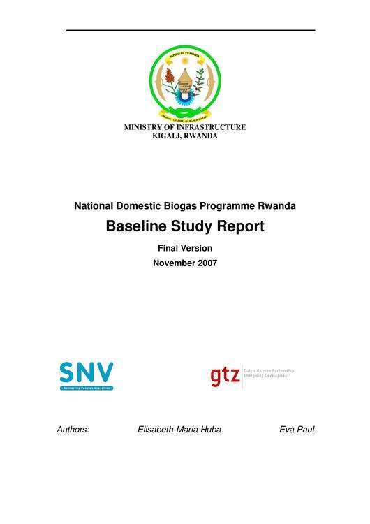 Baseline Study Rwanda final report 2007