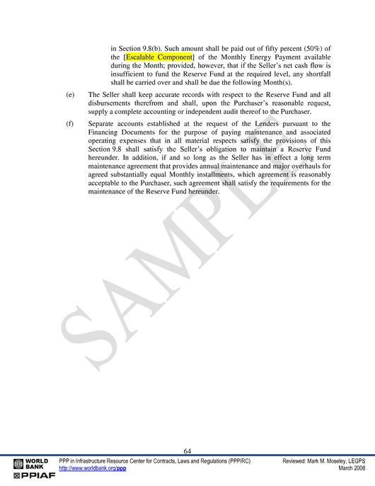 Standard Energy Purchase Agreement
