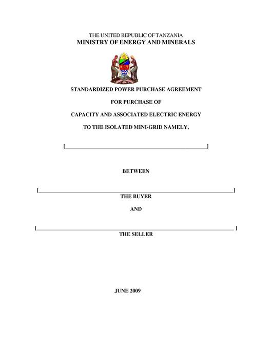 File:Tanzania Standardized Small Power Purchase Agreements for Isolated Mini Grid Connection.pdf