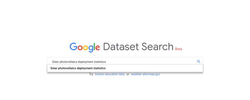 Google Dataset Search Engine - energypedia info