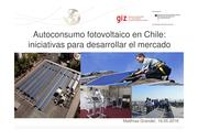 PV-self consumption in Chile - Presentation (spanish)