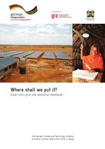Where shall we put it? Solar mini-grid site selection handbook
