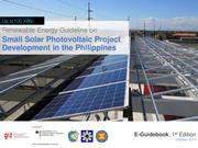 Small Solar PV Project Development in the Philippines