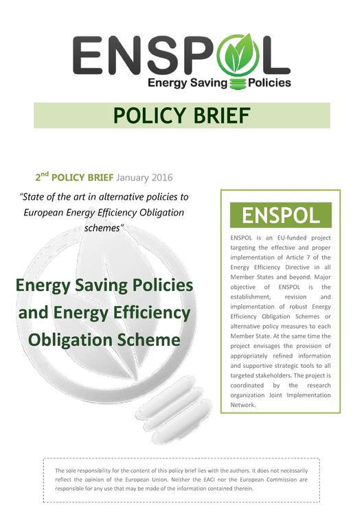 File:2nd ENSPOL Policy Brief- State of the Art in Alternative Policies to European Energy Efficiency Obligation Schemes.pdf