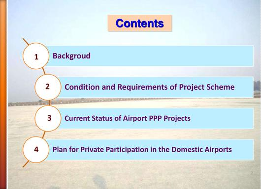 File:MOT - Current Status of Airport PPP Projects, Aerodrome Standards & Safety Division, Department of Civil Aviation.pdf