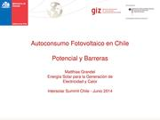 PV-Self-Consumption in Chile - Potential and Barriers (spanish)