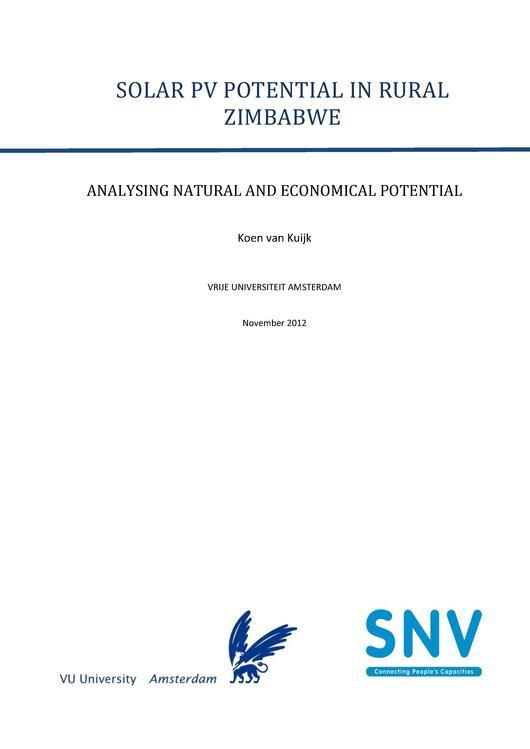 Solar energy potential in rural Zimbabwe