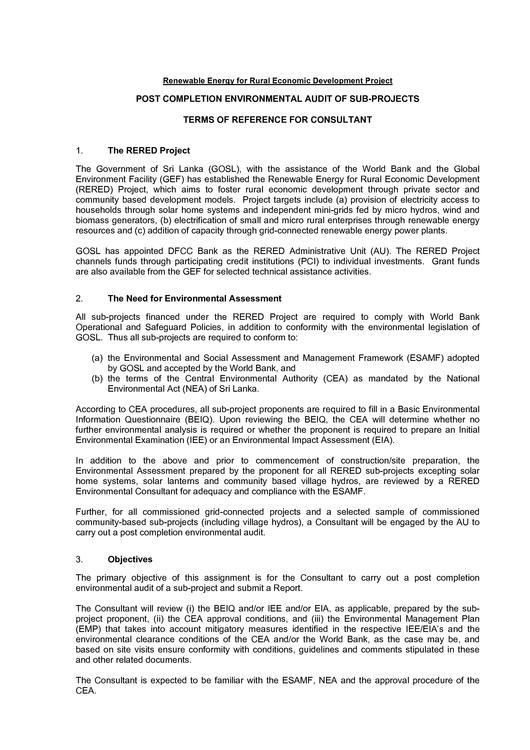 File:Sri Lanka Post Completion Audit of Sub-Projects pdf