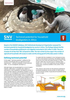 SNV Technical Brief Biodigesters in Africa