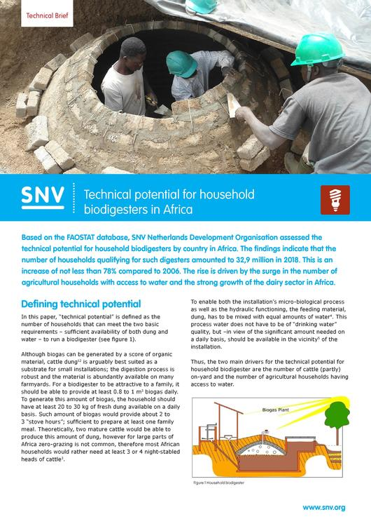 File:20190923 Technical brief - Technical potential for household biodigesters in Africa.pdf