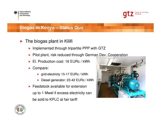 The Biogas Market in Kenya Status Quo and Potentials