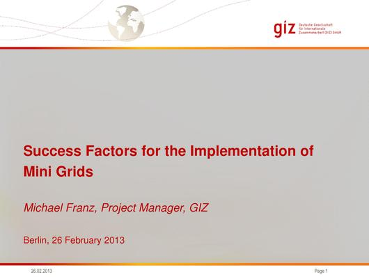 File:Success Factors for the Implementation of Mini Grids Franz.pdf