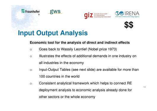 input output analysis in economics pdf