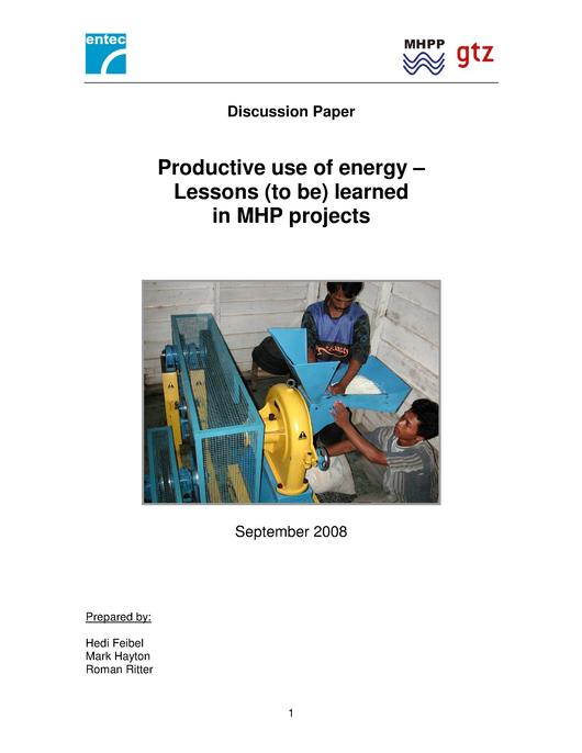 File:Productive Use of Energy – Lessons (to be) Learned in MHP Projects (2008).pdf