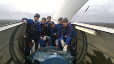 Brazilian teachers at a wind power training in North Germany