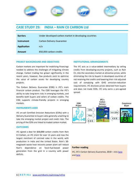 File:India - IFC Rain CII Carbon Ltd.pdf