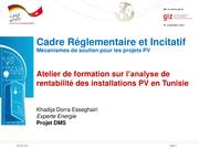 Workshop to Analyse the Profitability of PV Installations in Tunisia.pdf
