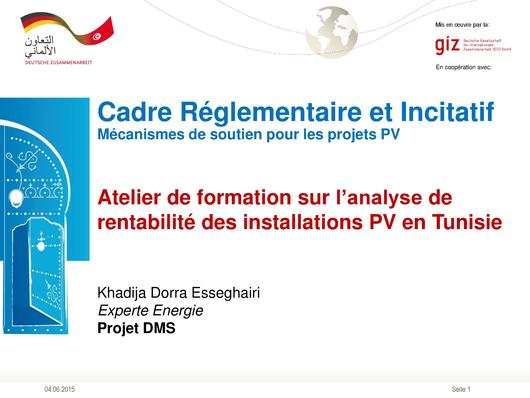 File:Workshop to Analyse the Profitability of PV Installations in Tunisia.pdf