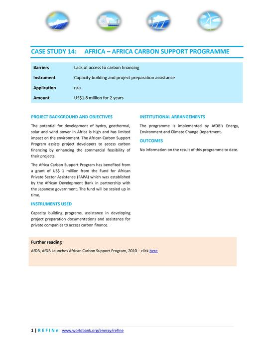 File:Africa AfDB Africa Carbon Support Programme.pdf