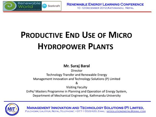 File:Productive End Use of Micro Hydro Nepal KathmanduUniversity.pdf