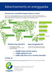 Promote your renewable energy company or event!