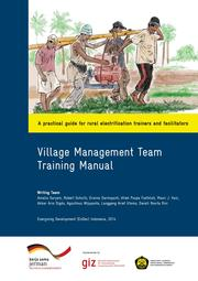 Village Management Manual by EnDev