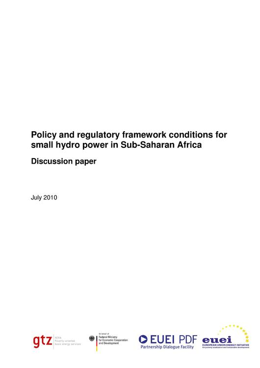 File:Policy and Regulatory Framework Conditions for Small Hydro Power in Sub-Saharan Africa.pdf