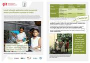 Story Sheet - Local Schools welcome solar-powered water purification system in India