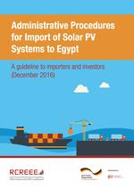 Administrative Procedures for Import of Solar PV Systems to Egypt