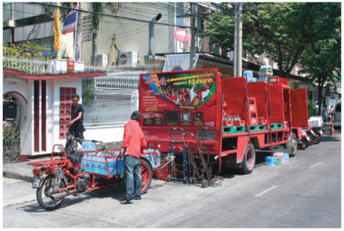 Urban beverage distribution in Bangkok