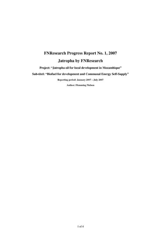 File:EN-FNResearch Progress Report No. 1, 2007 - Jatropha by FNResearch-Flemming Nielsen.pdf