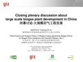 Closing Plenary Discussion about Large Scale Biogas Plant Development in China.pdf