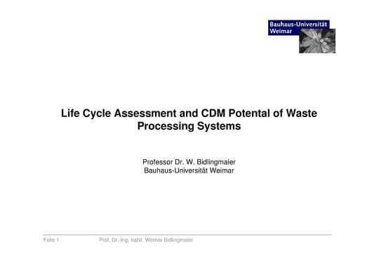 File:Life Cycle Assessment and CDM Potential of Waste Processing Systems.pdf