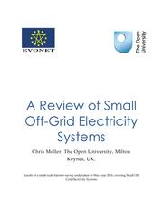 A Review of Small Off-Grid Electricity Systems