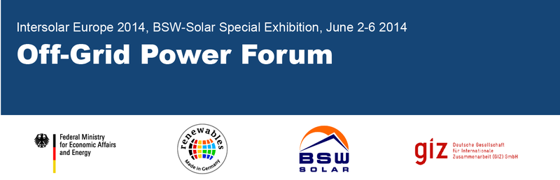 Off-Grid Power Forum - Intersolar 2014