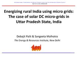Energizing Rural India Using Micro Grids-The Case of Solar DC Micro-Grids in Uttar Pradesh State, India.pdf