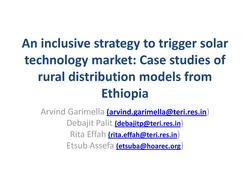 An Inclusive Strategy to Trigger Solar Technology Market - Case Studies of Rural Distribution Models from Ethiopia.pdf