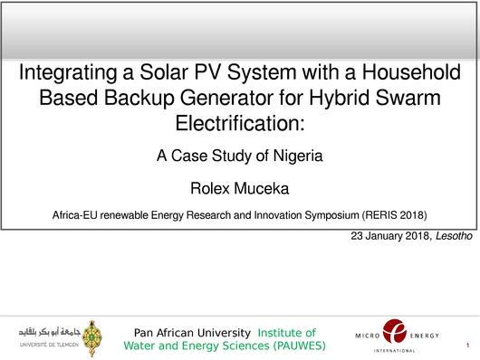 File:Integrating a Solar PV System with a Household-Based Backup Generator for Hybrid Swarm Electrification in Sub-Sahara Africa - Case Study of Nigeria.pdf