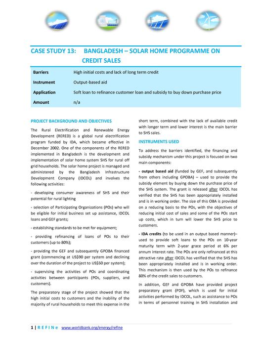 File:Bangladesh - Solar Home Programme on Credit Sales.pdf