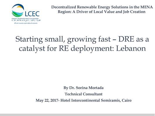 File:Starting Small, Growing Fast –DRE as a Catalyst for RE deployment - Lebanon.pdf